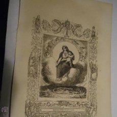 Arte: REF: KK - AÑO 1853 ORIGINAL GRABADO DE LA EPOCA RELIGIOSO - NUESTRA SEÑORA VIRGEN DE LAS NIEVES. Lote 54215780