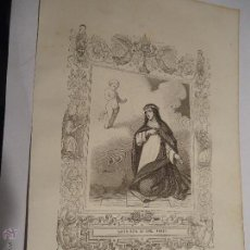 Arte: REF: KK - AÑO 1853 ORIGINAL GRABADO DE LA EPOCA RELIGIOSO - SANTA ROSA DE LIMA VIRGEN. Lote 54216844