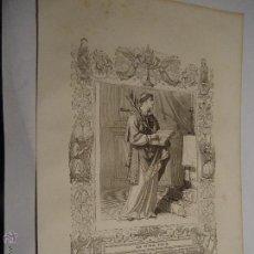 Arte: REF: KK - AÑO 1853 ORIGINAL GRABADO DE LA EPOCA RELIGIOSO - SAN ANTOLIN MARTIR. Lote 54216992