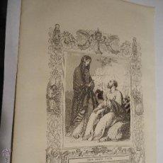 Arte: REF: KK - AÑO 1853 ORIGINAL GRABADO DE LA EPOCA RELIGIOSO - SANTA CANDIDA VIRGEN. Lote 54217041