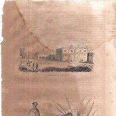 Arte: GRABADOS DE LA HACIENDA DE CHAPINGO, CRIADA INDIA, ESTRACCIÓN DEL PULQUE. 18,8X27 CM. Lote 54228744