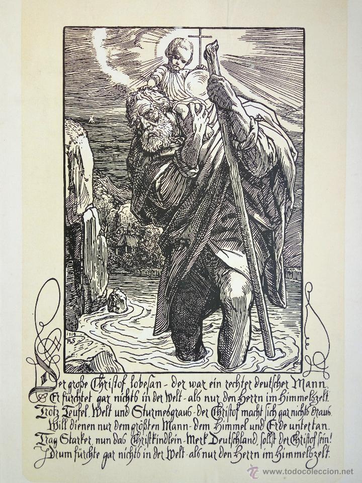 MARAVILLOSO GRABADO ORIGINAL, SIGLO XIX, 39 X 33 CM (Arte - Arte Religioso - Grabados)