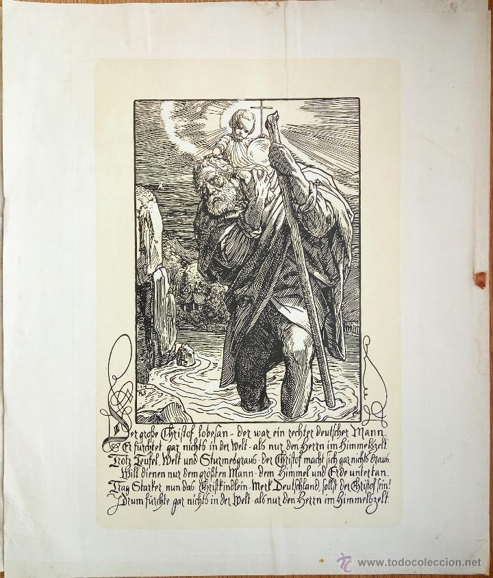 Arte: Maravilloso grabado original, siglo XIX, 39 X 33 cm - Foto 2 - 54262862