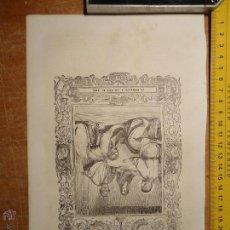 Arte: REF: KK - AÑO 1854 ORIGINAL GRABADO DE LA EPOCA RELIGIOSO - LA MAGDALENA A LOS PIES DE JESUS. Lote 54275592
