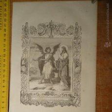 Arte: REF: KK - AÑO 1854 ORIGINAL GRABADO DE LA EPOCA RELIGIOSO - EL DEMONIO TIENTA A JESUS EN EL DESIERTO. Lote 54275688