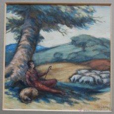 Arte: ANTHONY BAYNES (1921-2003) - NEOROMANTICISMO BRITÁNICO / SIMBOLISMO RELIGIOSO. Lote 54361629