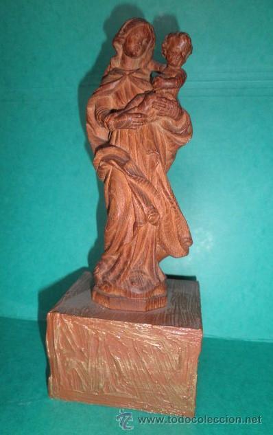 VIRGEN EN MADERA MACIZA (Arte - Arte Religioso - Escultura)