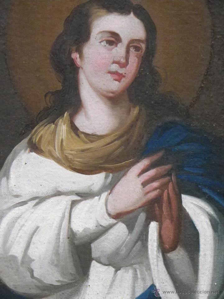 Arte: Inmaculada Concepción óleo/lienzo siglo XIX - Foto 7 - 54532536