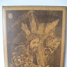 Arte: BAENA ( CORDOBA ) - NTRO. PADRE JESUS NAZARENO - PIROGRABADO EN MADERA CON LASER -MEDIDAS 40 X 30 CM. Lote 54554119
