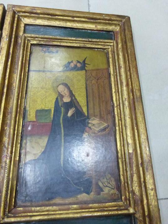 Arte: ANTIGUO TRÍPTICO PLEGABLE EN MADERA PARA PEQUEÑO ALTAR. CON IMÁGENES DE LA NATIVIDAD DE JESÚS - Foto 8 - 108291920