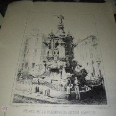 Arte: FUENTE DE LA PLAZUELA DE ANTON MARTIN. Lote 54578096