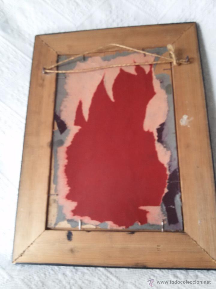 Arte: ÓLEO ANTIGUO SOBRE TABLA-CATEDRAL DE LEÓN CON RELIEVE-FIRMADO-MARCO LABRADO-A MANO - Foto 12 - 54579101