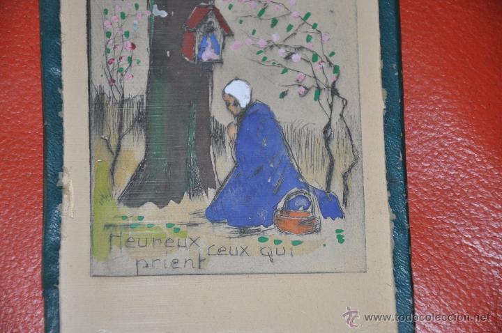 Arte: aguafuerte original de tema religioso , firmado CLAUDE , del XIX - Foto 3 - 54632107