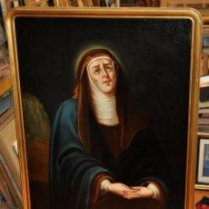 Arte: ESCUELA ESPAÑOLA DEL SIGLO XIX. OLEO SOBRE LIENZO FIRMADO CON INICIALES. DOLOROSA. Lote 54689081