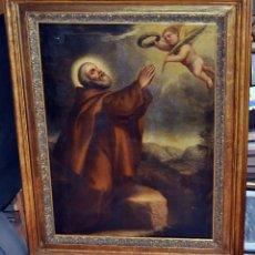 Arte: ESCUELA ESPAÑOLA DEL SIGLO XVIII. OLEO SOBRE TELA DE TEMA RELIGIOSO. 125 CM. X 100 CM.. Lote 54753075