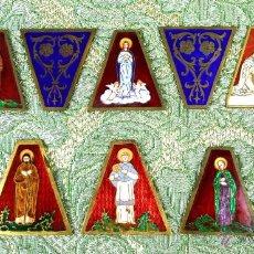 Arte: CONJUNTO DE ESMALTES DE TEMÁTICA RELIGIOSA. CLOISONÉ SOBRE METAL. ESPAÑA. 1950.. Lote 54368785