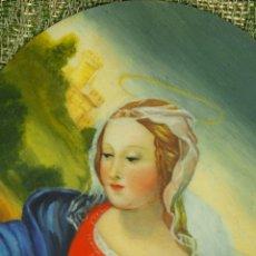 Arte: MINIATURA. VIRGEN MARIA. ÓLEO SOBRE HUESO. MARCO ORIGINAL. ITALIA (?). FIN XIX.. Lote 52386902