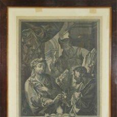 Arte: K3-032. ESCENA RELIGIOSA. GRABADO AL AGUAFUERTE. CHRISTIAN RUGENDAS. SIGLO XVIII.. Lote 51219093
