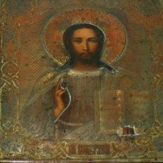 Arte: P-217 - ICONO. PANTOCRATOR. ÓLEO MADERA. METAL PLATEADO Y DORADO. RUSIA. XIX. Lote 47819475