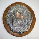 Arte: ICONO GRIEGO, REPRODUCCIÓN AUTORIZADA, CON RIZA EN METAL PLATEADO Y DORADO.. Lote 46427654