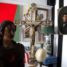 Arte: CRUCIFIJO. CRUCIFICADO. JESÚS. TALLA EN MADERA S. XVIII. ITALIA.. Lote 54825027