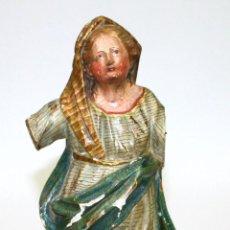 Arte: VIRGEN MARIA . MADERA TALLADA Y POLICROMADA. ESPAÑA.XVIII-XIX.. Lote 54825028