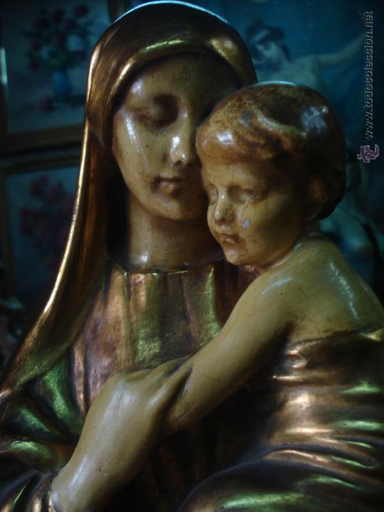 Arte: Tierna Maternidad novecentista dorada al oro fino - Foto 2 - 54855264