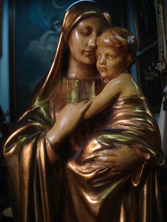 Arte: Tierna Maternidad novecentista dorada al oro fino - Foto 3 - 54855264