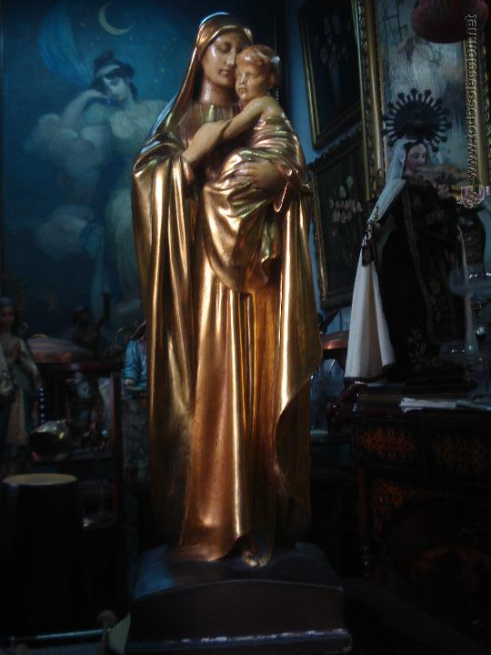 Arte: Tierna Maternidad novecentista dorada al oro fino - Foto 6 - 54855264