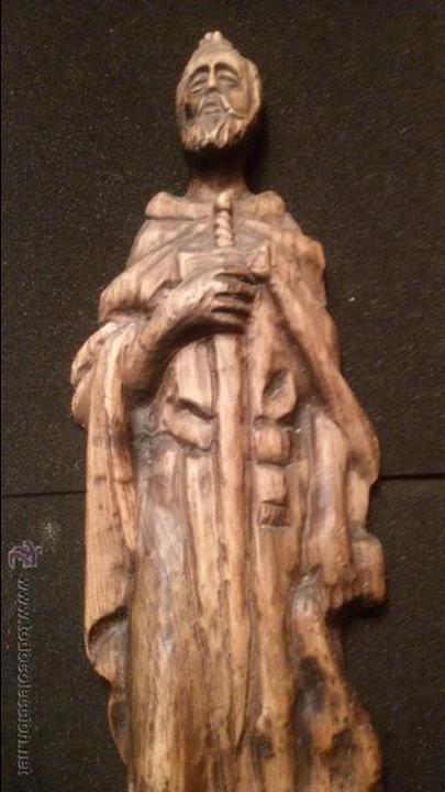 Arte: IMPRESIONANTE DEL XVIII ESCULTURA DE 60 X 20 cm SAN PABLO CON LA ESPADA TALLA MADERA 242,00 € - Foto 3 - 54858348