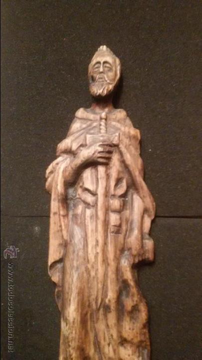 Arte: IMPRESIONANTE DEL XVIII ESCULTURA DE 60 X 20 cm SAN PABLO CON LA ESPADA TALLA MADERA 242,00 € - Foto 9 - 54858348