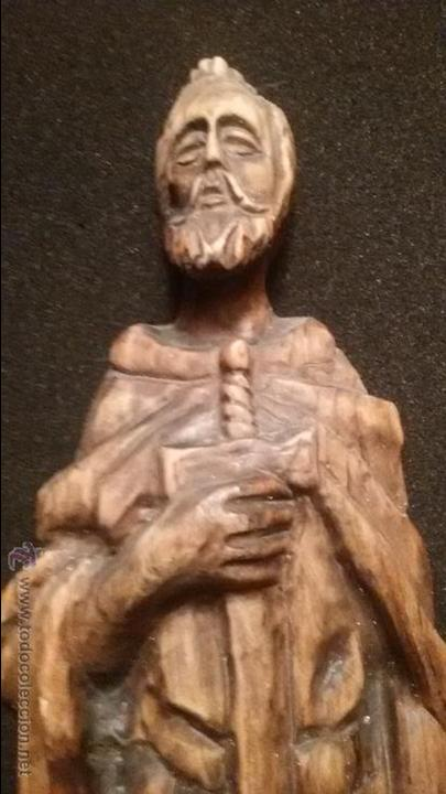 Arte: IMPRESIONANTE DEL XVIII ESCULTURA DE 60 X 20 cm SAN PABLO CON LA ESPADA TALLA MADERA 242,00 € - Foto 11 - 54858348