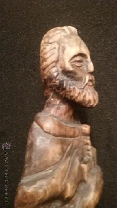 Arte: IMPRESIONANTE DEL XVIII ESCULTURA DE 60 X 20 cm SAN PABLO CON LA ESPADA TALLA MADERA 242,00 € - Foto 12 - 54858348