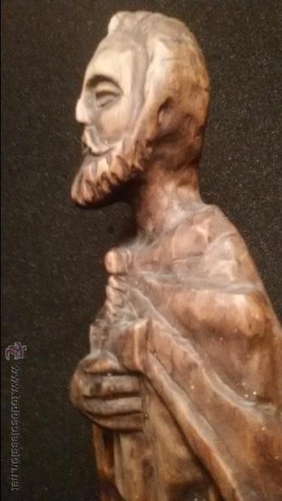 Arte: IMPRESIONANTE DEL XVIII ESCULTURA DE 60 X 20 cm SAN PABLO CON LA ESPADA TALLA MADERA 242,00 € - Foto 13 - 54858348