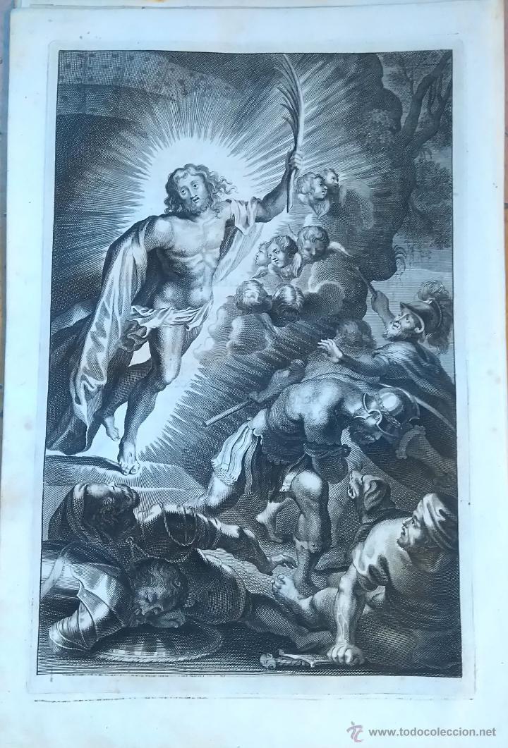 RELIGION,13 GRABADOS ORIGINALES VIDA DE JESUS,JESUCRISTO AÑO 1719- MISALE ROMANUM-PRECIOSO,300 AÑOS (Arte - Arte Religioso - Grabados)