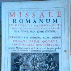 Arte: RELIGION,13 GRABADOS ORIGINALES VIDA DE JESUS,JESUCRISTO AÑO 1719- MISSALE ROMANUM-PRECIOSO,300 AÑOS. Lote 54910878