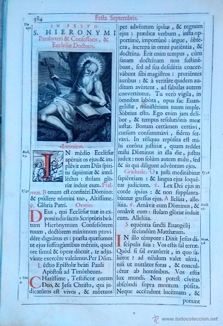 Arte: RELIGION,13 GRABADOS ORIGINALES VIDA DE JESUS,JESUCRISTO AÑO 1719- MISALE ROMANUM-PRECIOSO,300 AÑOS - Foto 6 - 54910878