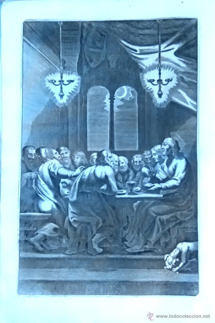 Arte: RELIGION,13 GRABADOS ORIGINALES VIDA DE JESUS,JESUCRISTO AÑO 1719- MISALE ROMANUM-PRECIOSO,300 AÑOS - Foto 7 - 54910878