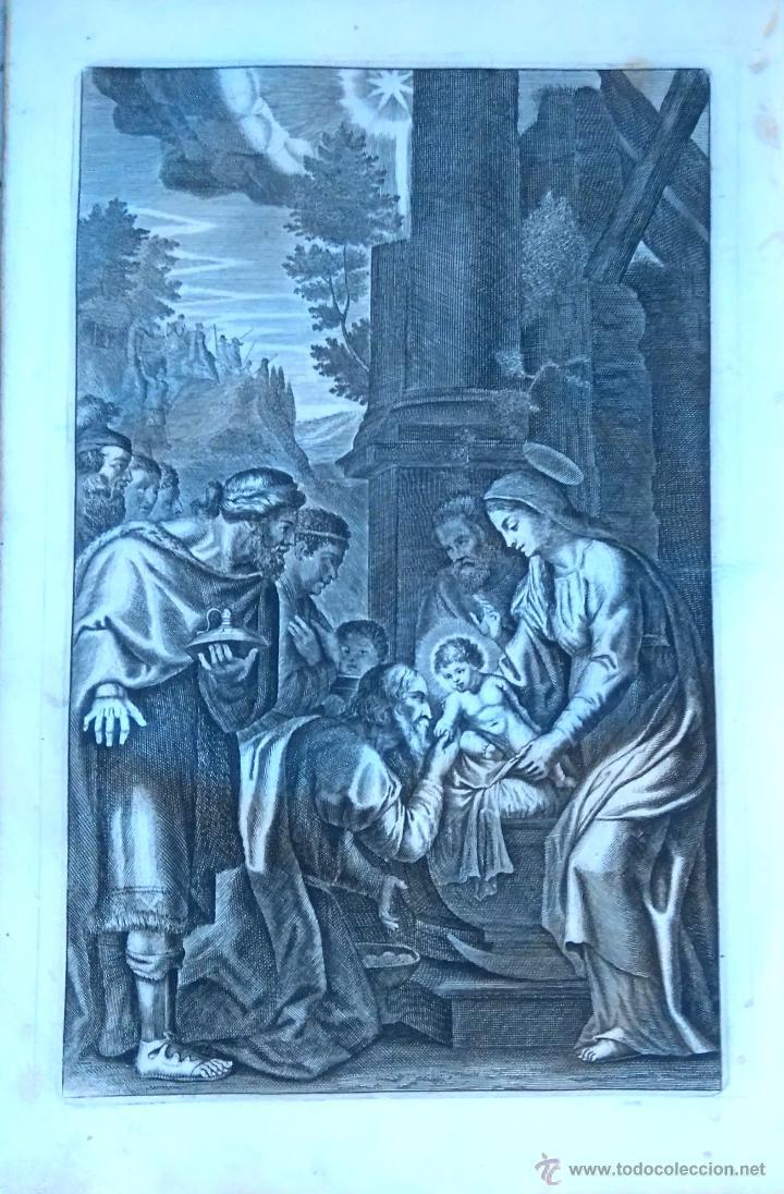 Arte: RELIGION,13 GRABADOS ORIGINALES VIDA DE JESUS,JESUCRISTO AÑO 1719- MISALE ROMANUM-PRECIOSO,300 AÑOS - Foto 12 - 54910878