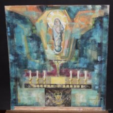 Arte: ANONIMO. TECNICA MIXTA SOBRE CARTULINA. COMPOSICION RELIGIOSA. Lote 54923267