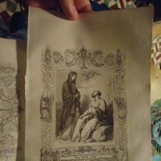 Arte: REF: KK - AÑO 1853 ORIGINAL GRABADO DE LA EPOCA RELIGIOSO - VIRGEN SANTA CANDIDA. Lote 54936317
