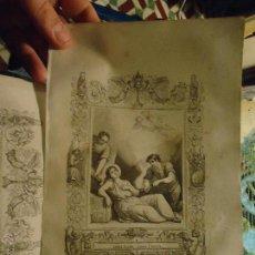 Arte: REF: KK - AÑO 1853 ORIGINAL GRABADO DE LA EPOCA RELIGIOSO - SANTA REGINA VIRGEN Y MARTIR. Lote 54936364