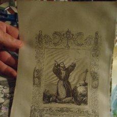 Arte: REF: KK - AÑO 1853 ORIGINAL GRABADO DE LA EPOCA RELIGIOSO - LAS LLAGAS DE SAN FRANCISCO DE ASIS. Lote 54936452