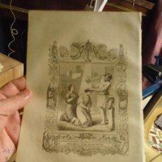 Arte: REF: KK - AÑO 1853 ORIGINAL GRABADO DE LA EPOCA RELIGIOSO - SANTA AMALIA Y RUFINA HERMANAS MARTIRES. Lote 54936740