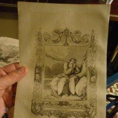 Arte: REF: KK - AÑO 1853 ORIGINAL GRABADO DE LA EPOCA RELIGIOSO - SAN ELIAS. Lote 54936789