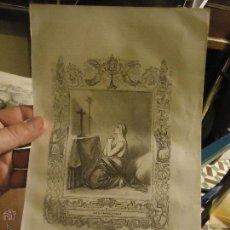Arte: REF: KK - AÑO 1853 ORIGINAL GRABADO DE LA EPOCA RELIGIOSO - SANTA PRAXEDE VIRGEN . Lote 54936794
