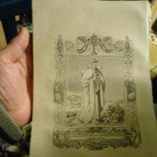 Arte: REF: KK - AÑO 1853 ORIGINAL GRABADO DE LA EPOCA RELIGIOSO - SANTIAGO APOSTOL . Lote 54936808
