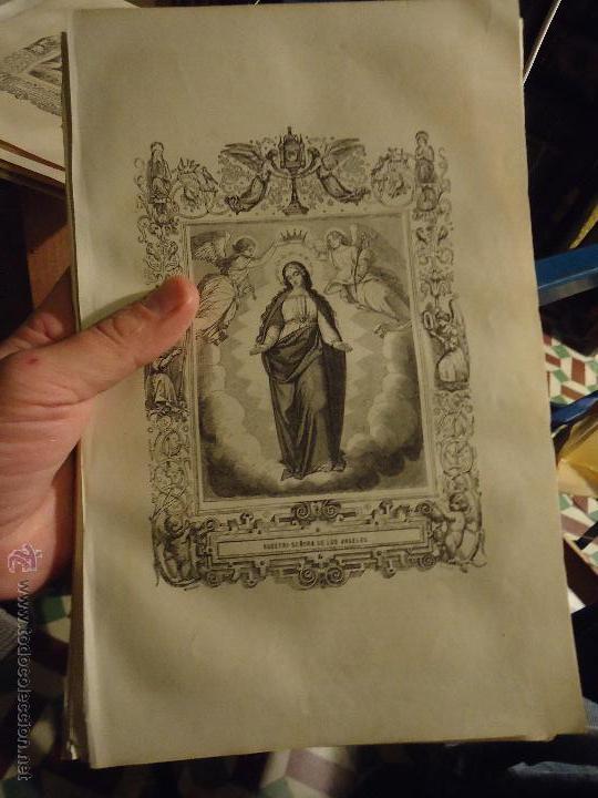 REF: KK - AÑO 1853 ORIGINAL GRABADO DE LA EPOCA RELIGIOSO -NUESTRA SEÑORA VIRGEN DE LOS ANGELES (Arte - Arte Religioso - Grabados)