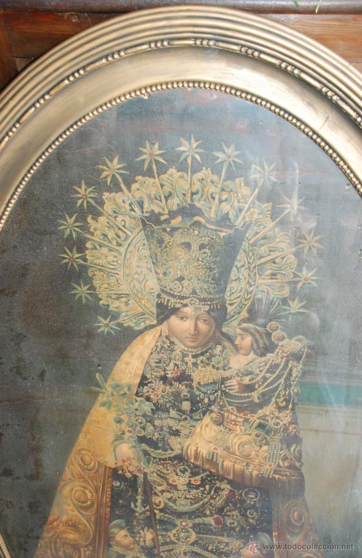Arte: MUY ANTIGUA LÁMINA ENMARCADA DE LA VIRGEN DE LOS DESAMPARADOS - Foto 2 - 54972348