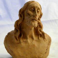 Arte: IMAGEN RELIGIOSA EN TERRACOTA FIRMADA M. MELERO. Lote 55077448
